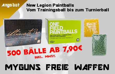Diverse Paintball Munition